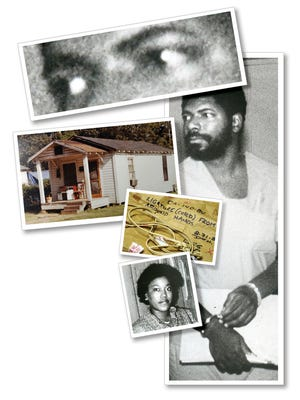 Serial Killer Code photo illustration using file are. Here are some cutlines from the photos. Serial killer Nathaniel Code Jr. is shown in this July 1989 photo. Code was convicted and sentenced to death in October 1990 for the first-degree murders of four Shreveport residents. He currently still is on death row at Angola. Undated photo of the exterior of Deborah Ford's home on E. 74th street in Cedar Grove. Nathaniel R. Code Jr. was accused Ford in 1984. (Evidence Photo from Caddo Courthouse) Electrical cord used to tie Deborah Ford's wrists at the scene of her homicide on E. 74th street in Cedar Grove. Nathaniel R. Code Jr. was accused of killing Ford in 1984. (Evidence Photo from Caddo Courthouse)