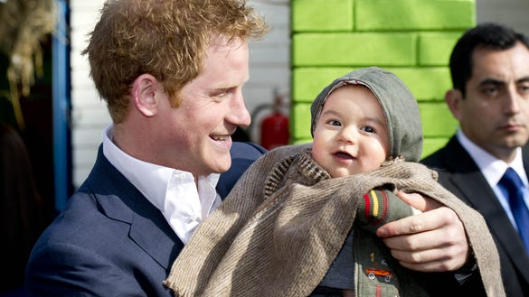 Prince Harry and baby