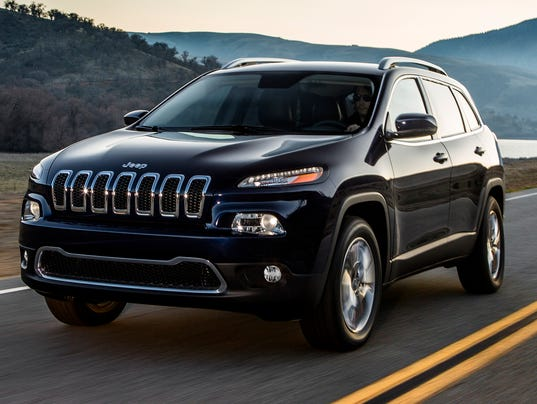 Jeep Cherokee on road