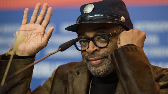 Spike Lee attends a press conference at a film festival
