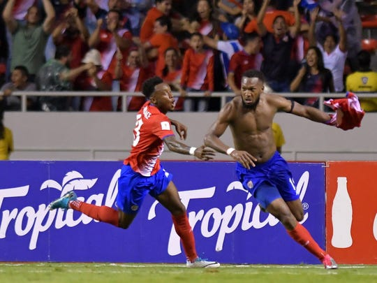 Costa Rica's Kendall Waston (right, also of the Vancouver