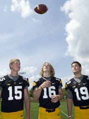 Jake Rudock, C.J. Beathard and Cody Sokol in 2013.