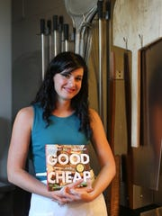Leanne Brown, 30, says you can eat well cheaply. She shared recipes at the Great Lakes Culinary Center in Southfield.
