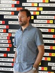 Rick Devos, founder of Artprize in Grand Rapids photographed at Start Garden @ 50 Louis Street on Thursday, Sept. 19, 2013.