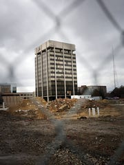 This is the beginning stages of apartment living at 3800 Woodward in Detroit (the hammer building).