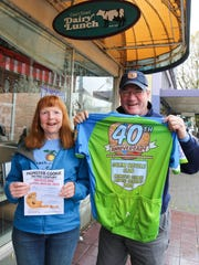 Mary Ann and Hersch Sangster of the Salem Bicycle Club are hoping for 2,000 entrants in this year's Monster Cookie Metric Century Ride.