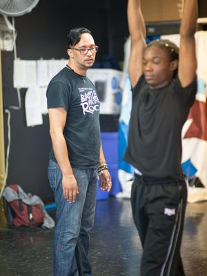 Founder of TRU Art Dance Studio Jayme Bermudez, 37, of Rochester, left, conducts dance lessons at his studio on Tremont Street. His studio operates with the support of Young Audiences.