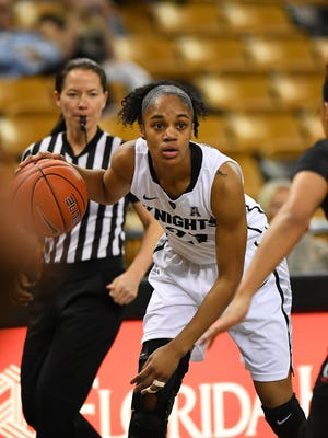 UCF junior Aliyah Gregory was named the American Athletic Conference player of the Week.