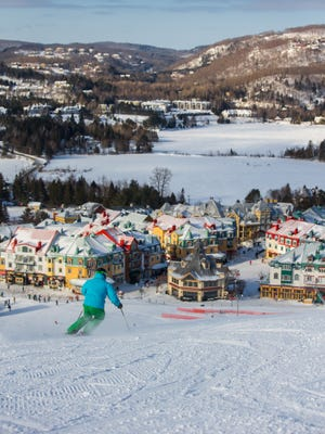 After a day on the slopes, there is plenty to enjoy in the village of Tremblant, Quebec, with shops, live music, restaurants, hot tubs and an indoor water park.