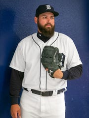 Michael Fulmer poses during picture day Feb. 20 at spring training.