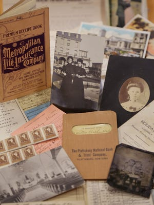 Some of the family documents, century-old photos and letters found inside an old steamer chest and given to Kristen Jordan Shamus' family after some sleuthing tracked down her father.