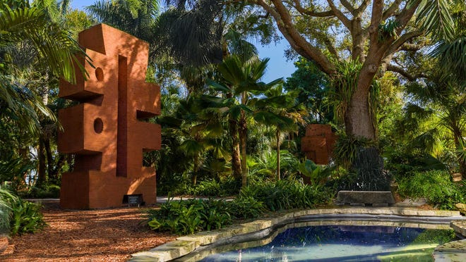 """Like the rest of Ann Norton's monumental sculptures, """"Gateway 5"""" was meant to be discovered within concealing greenery. The Ann Norton Sculpture Gardens has been accredited by ArbNet, the world's only accrediting body for public gardens of woody plants."""