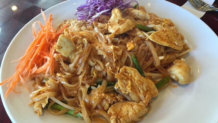 The Chicken Pad Thai from My Thai in La Quinta.
