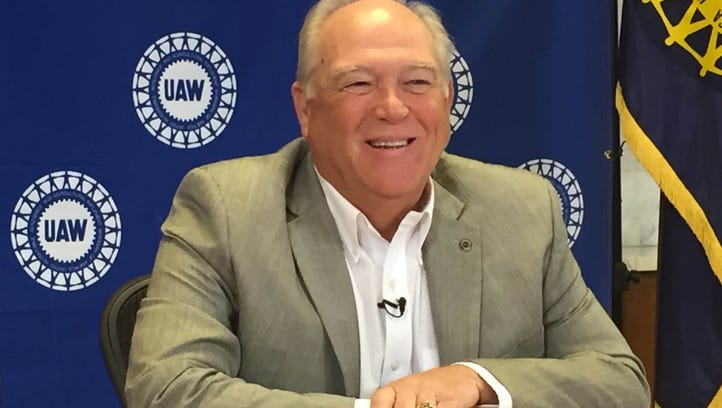 UAW President Dennis Williams met with the media on