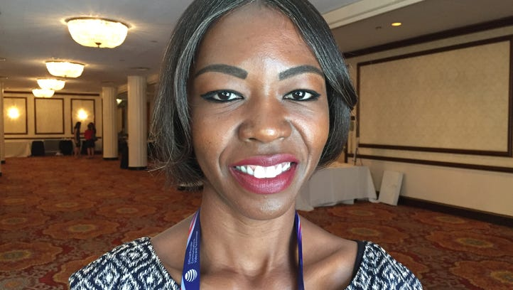 "Scherie Murray, 35, of Laurelton, Queens, was an alternate delegate at the Republican National Convention. She said she switched her party registration from Democrat to Republican when she ""learned that the Republican Party was started as an anti-slavery movement."""