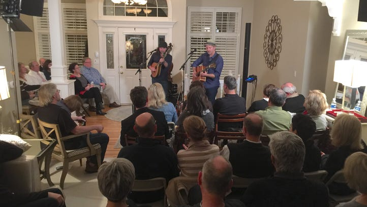 House concert booking site HomeDitty hosted a show featuring Moors & McCumber at the home of Rick and Karen Swalwell on Feb. 16, 2017.