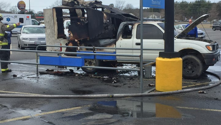 A truck fire at the Fruitland Walmart on March 27.