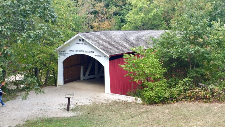 One of several covered bridges in Parke County, Indiana.