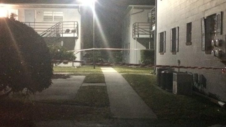 The shooting happened at the Glenwood Apartments around