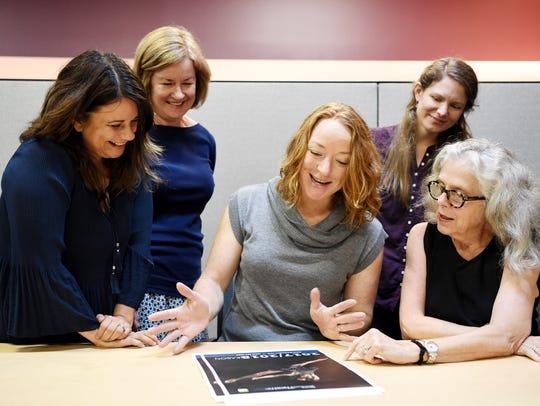 From left, Tiffany Santiago, Anne Wolf, Rae Geoffrey,