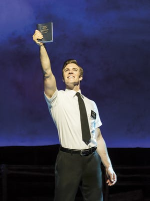 """Billy Harrigan Tighe in """"The Book of Mormon."""""""
