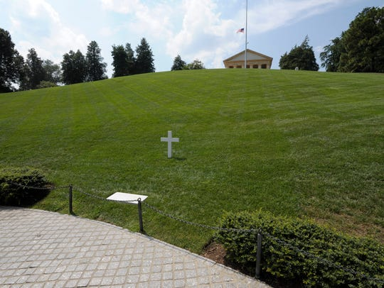 Robert F. Kennedy's grave is marked by a simple cross