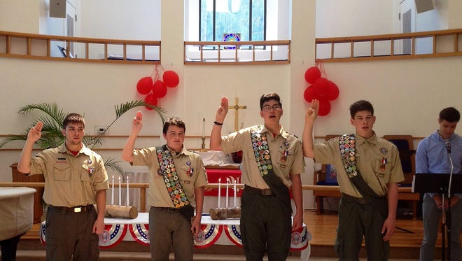 Steven McCormick, Kevin O'Brien, Patrick O'Brien and James Smith, all residents of Belle Mead, were recently honored for achieving Eagle Scout status.