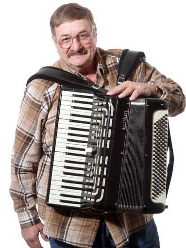Richard Toto of Pike Creek. Members of the Delaware Accordion Club meet monthly at the River Club Apartments in Claymont.