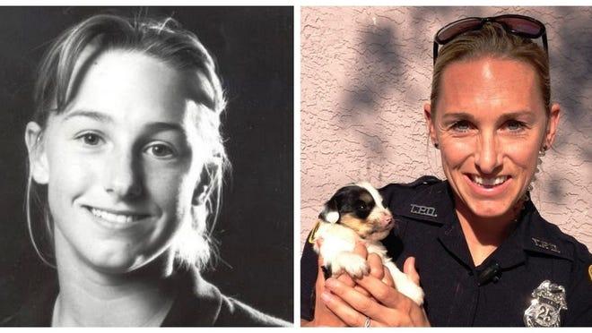 Wareham's Jodie Maxim, then and now.