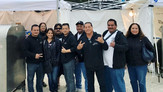 A team of Guam chefs compete in Alabama at the World Barbecue Championships. Team members are, from left: Peter Duenas of Meskla Enterprises, Dee Hernandez of the Guam Visitors Bureau, Monica Duenas of Meskla Enterprises, Joe Okada of Guam Barbecue Company/Tunu Guam, Leland Feng, executive chef at the Pacific Star Hotel, Gene Soledad, executive chef at the Outrigger Guam Resort, Fidel Flores of Triple J. Five Star Wholesale, JR Taga,