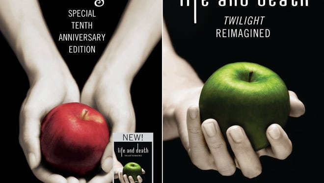 The front and back jackets of the 'Twilight' 10th anniversary edition, which features the new book 'Life and Death.'