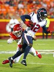 Receiver Bruce Ellington with the Texans on Aug. 9, 2018.