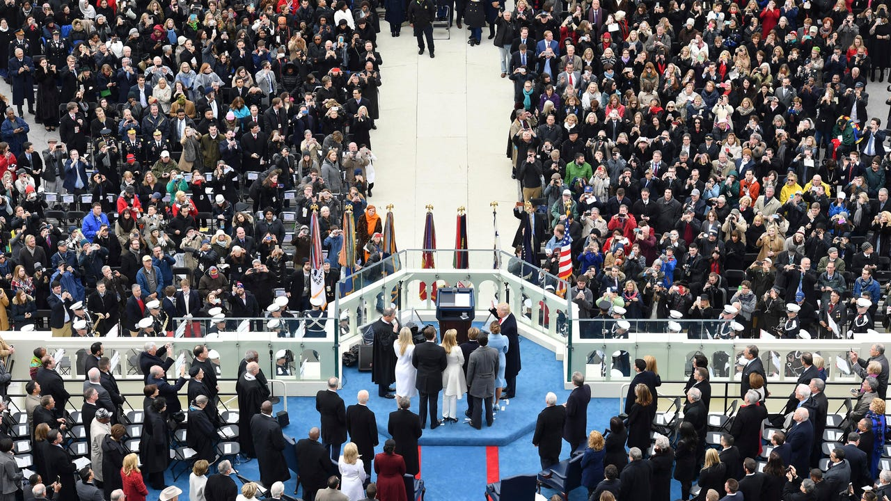 In a press conference by White House press secretary Sean Spicer, the tone shifted to more of a combative one as he issued a statement defending the crowd estimates during the inauguration.
