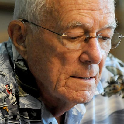 WWII vet Philip Neuerman recalls his time in the service Thursday afternoon.