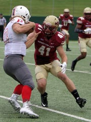 Tristan Shearman, a linebacker at Midwestern State from Rider High School, was one of several area players making a big impact in Saturday's 31-23 win at Eastern New Mexico. Shearman had seven tackles.