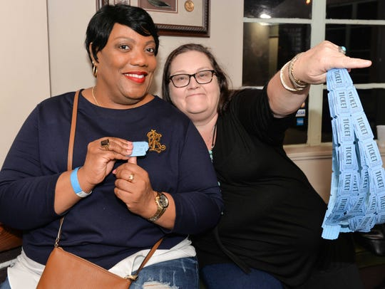 Dorothy Cobb and Theresa Wyres hoping to win one of