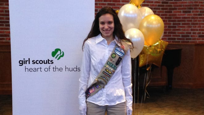 Angela DiRenno recently received a Girl Scout Gold Award for community service at Maria Fareri Children's Hospital.