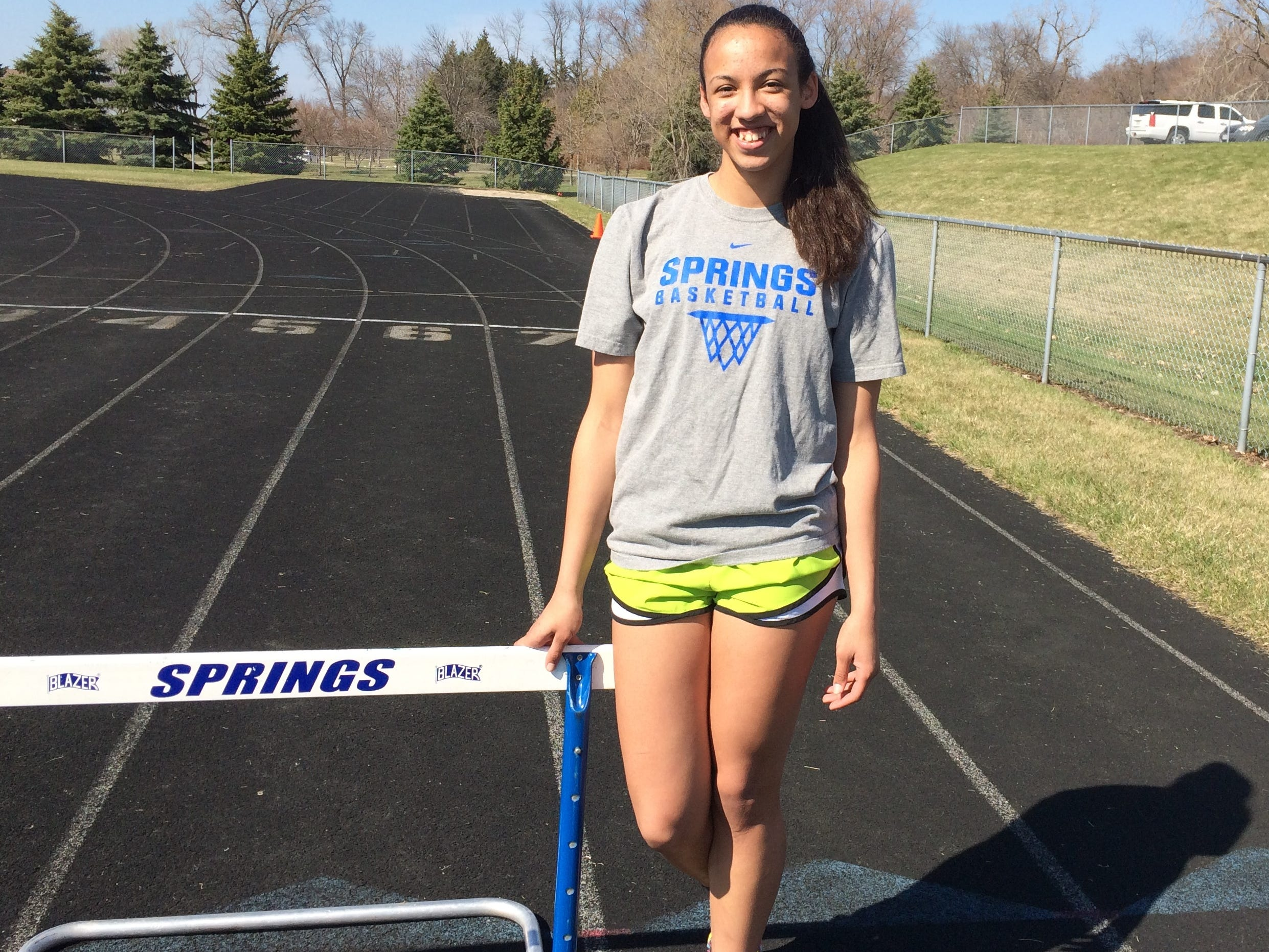 St. Mary's Springs' Anja Smith is off to a terrific start for the Ledgers track and field team.