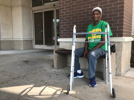 James Tuggle, 67, of Whitehaven, waits for a ride after his final visit to a Comprehensive Pain Specialists clinic in Memphis. The company is shuttered its clinics in late July,  forcing patients to find new doctors for pain medicine.