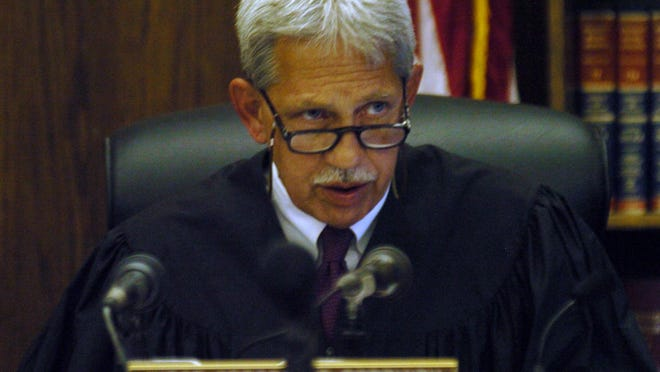 Campbell District Judge Gregory T. Popovich on the bench.
