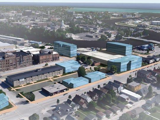 Proposed Sheboygan Innovation District rendering
