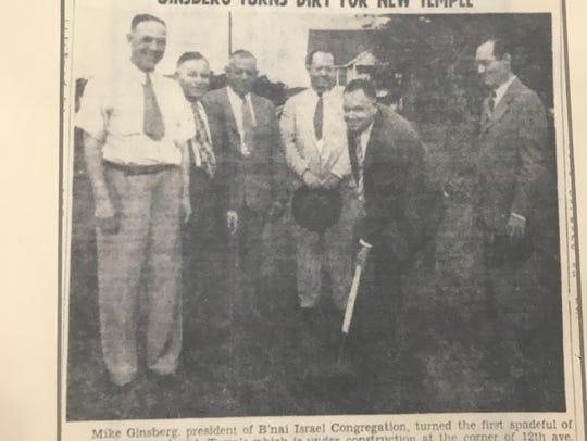 Hattiesburg's Temple B'nai Israel ground breaking was in 1946.