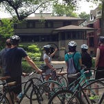 Pedal Oak Park tours in Chicago give architecture buffs a close-up look at Frank Lloyd Wright work.