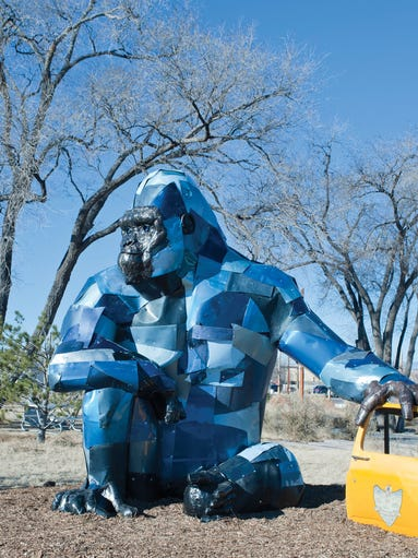Sculptor Don Kennell of Santa Fe, New Mexico, created