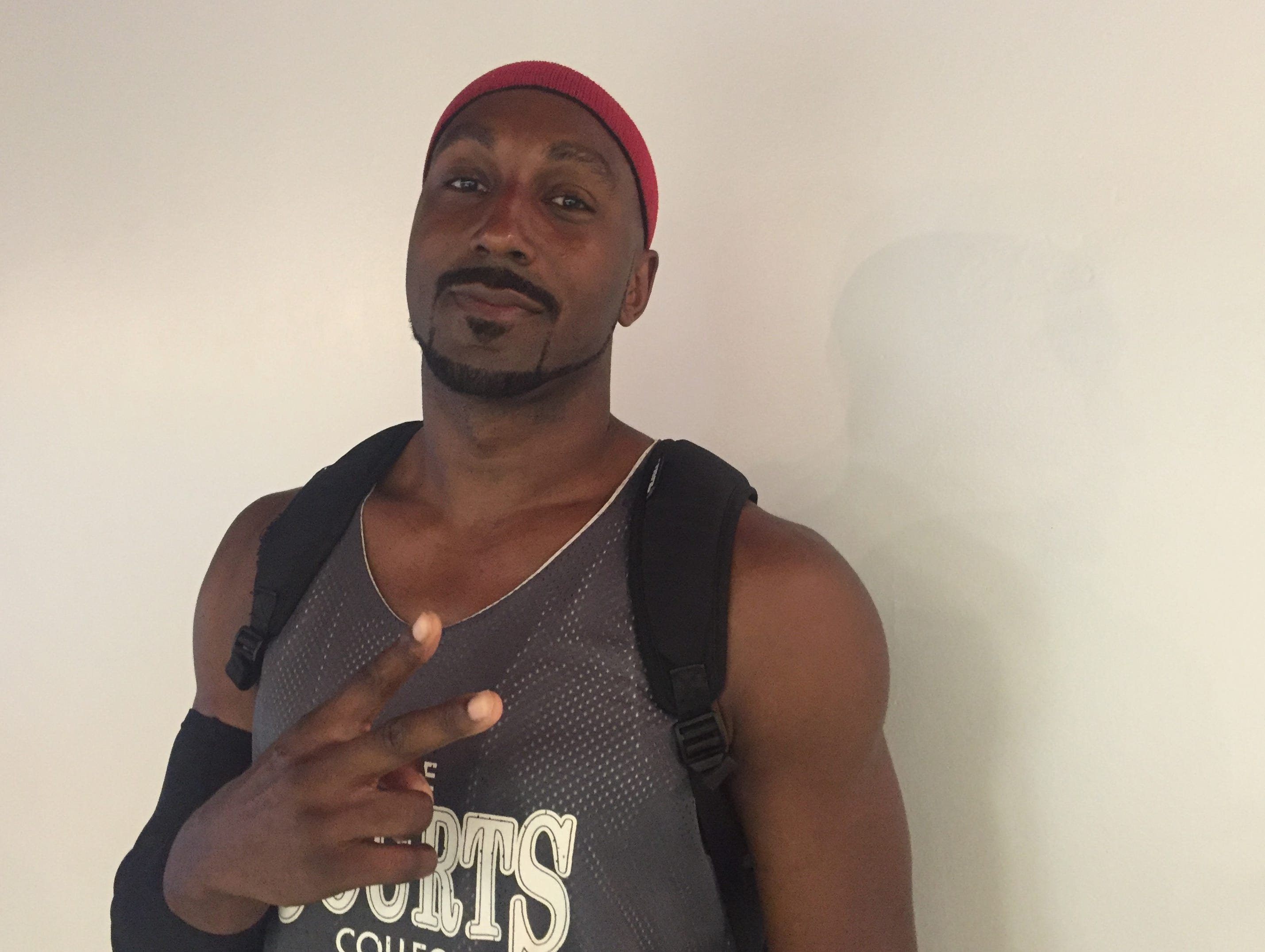 Pro basketball player James Williams, 37, poses for a photograph at the Courts Ezone in Springfield.