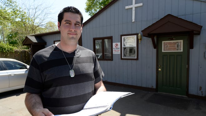 Recovering addict Mike McCrorken now works at Teen  Challenge, a rehab program in New Haven, Conn.
