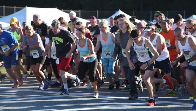 Runners begin the 5K race at the Dutchess County Classic on Sept. 20, 2015 at Arlington High School in Freedom Plains.