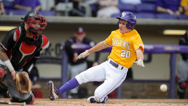 LSU right fielder Antoine Duplantis is tied for the team lead in triples with five and was fourth in RBIs with 36.