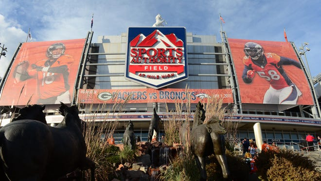 General view of Sports Authority Field at Mile High before the game between the Green Bay Packers against the Denver Broncos on Nov. 1, 2015.