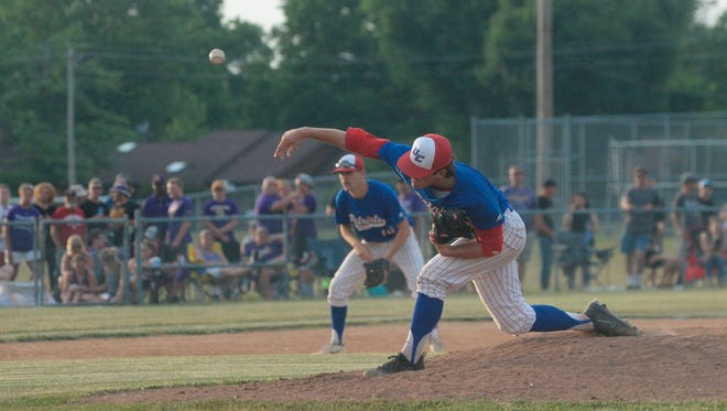 The Union County baseball team defeated Hagerstown 6-1 in the IHSAA Class 2A Sectional 41 championship game at Centerville High School Monday, May 28, 2018.